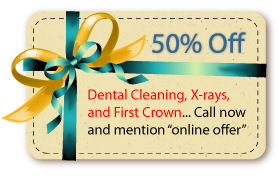 dental coupon savings of 50% on dental cleaning